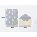 Size of Pattern letter paper and envelope set for you
