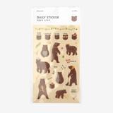 Daily transparent sticker - Bear