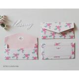 Retro flower pink - Retro pattern envelope set