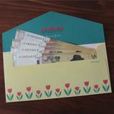 Vintage tulip - Retro pattern envelope set