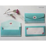 Retro mint - Retro pattern envelope set