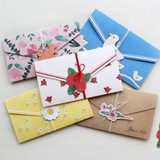 Natural letter card with gift tags and string