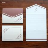 Type 1 - Wheat pattern small folded card
