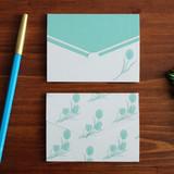 Tulip pattern small folded card