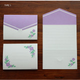 Type 1 - Morning Glory pattern small folded card