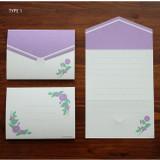 Type 1 - Morning Glory pattern small folded card