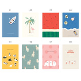 01 ~ 08 - Simple and cute illustration card