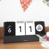 Calendar - Simple flip perpetual standing desk calendar