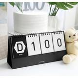 Black - Simple flip perpetual standing desk calendar