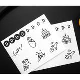 Deco stickers - Simple flip perpetual standing desk calendar