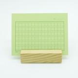 Forest squared manuscript paper postcard