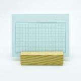 Mint squared manuscript paper postcard