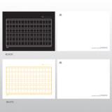 Option of White Black squared manuscript paper postcard