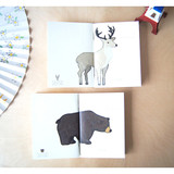 Bear Deer small plain notebook