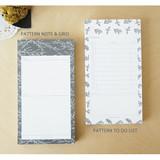 Pattern note & grid, Pattern To do list