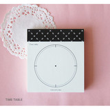 Time table - Time frame To do list memo pad