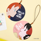 I am here - Anne of green gables travel luggage name tag set