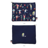 Dorothy and Alice poly flat multi pouch