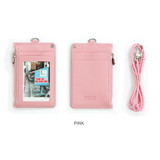 Pink - Dorothy and Alice zipper neck flat card case