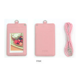 Pink - Dorothy and Alice basic neck flat card case