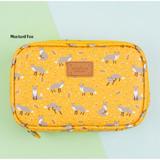 Mustard fox - Pattern cube zip around multi pouch
