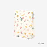 My love - For your heart pattern small paper gift bag