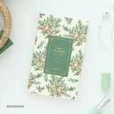 Mandarin - Proust pattern undated weekly diary journal