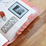 Coral pink - Fresh day PU adhesive index tab sticker