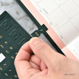 Deep green - Smart day PU adhesive index tab sticker
