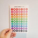 Bubble Bubble clear deco sticker set