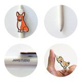 Detail of Hello puppy knock retractable black ballpoint pen