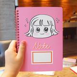 Pink - Nicejin spiral bound lined notebook