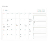 Monthly plan - 2018 Appointment A5 dated monthly planner agenda