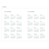 Calendar - 2018 Appointment A5 dated monthly planner agenda