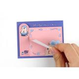 Blue rose - Choo Choo cat sticky memo notes bookmark