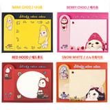 Nana choo, Berry choo, Red hood, Snow white