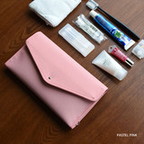 Pastel pink - Holiday travel hanging toiletry pouch bag