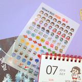 Nicejin transparent deco sticker set