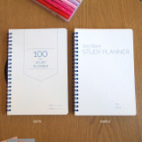 Simple 100 days study planner scheduler