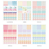 Option - Colorful deco transparent clear sticker set