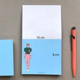 Size - Memowang pastel pink pants illustration memo pad