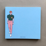 Memowang pastel pink pants illustration memo pad