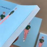 Memowang pastel pink pants illustration memo pad