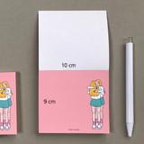 Size - Memowang pastel hug illustration memo pad