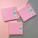 Memowang pastel hug illustration memo pad