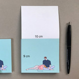 Size - Memowang pastel couple illustration memo pad