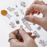Buhabear cute illustration transparent sticker