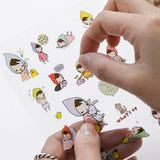 PONYBROWN My little friend cute illustration transparent sticker