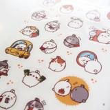 Molang cute deco transparent clear sticker set ver5
