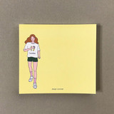 Memowang pastel girl illustration memo pad